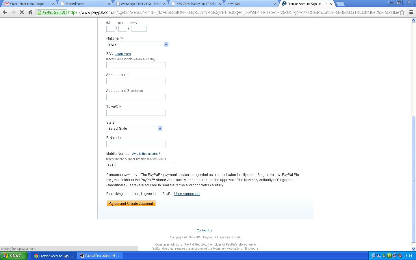 STEP 4: Click 'Agree and Create Account'.